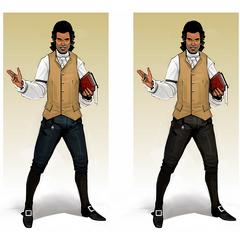 热拉尔德的原设图,有多种服饰配色