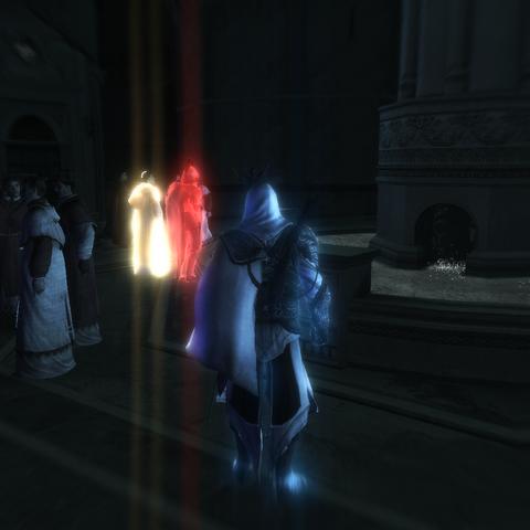 Ezio localisant le cardinal