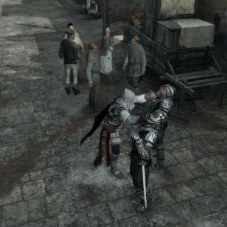 Ezio assassinant deux autres gardes