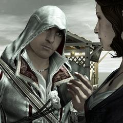 Ezio remerciant Caterina pour sa générosité