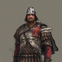 Concept art of a Byzantine soldier