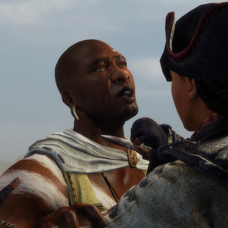 Agaté being confronted by Aveline