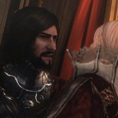 切萨雷要卢克雷齐娅说出苹果的位置