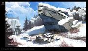 ACRG Snow Environment 1 - Concept Art