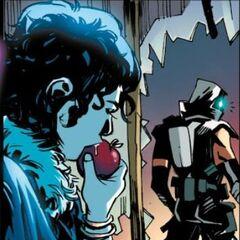 伊利亚在吃苹果