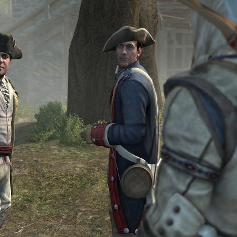 Connor interrompant la conversation entre André et Arnold