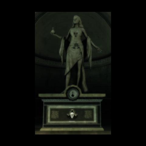 Die Statue von Iltani in Monteriggioni
