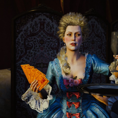 Marie Antoinette accepting a drink