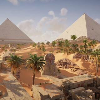 吉萨的狮身人面像与金字塔