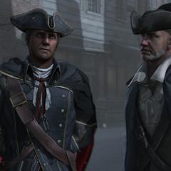 Haytham discutant avec son complice