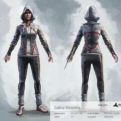 Concept-art de <b>Galina</b> (avec capuche)