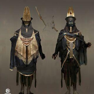 Concept de <b>Medounamoun</b> portant le masque de l'Ordre