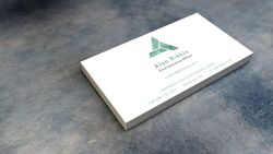 Alan rikkin business card
