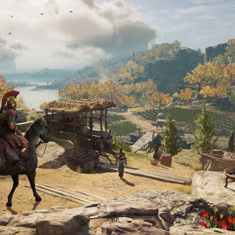 莱斯博斯岛的游戏宣传图