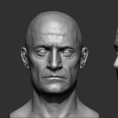 Head sculpts of Robespierre