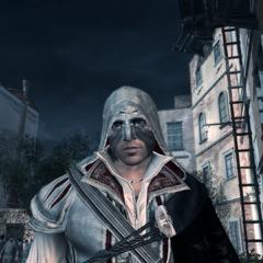 Ezio portant le masque du Carnaval