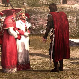 Georges d'Amboise reniant les Borgia
