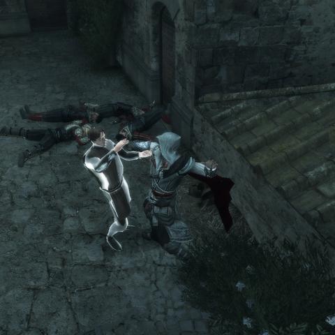 Ezio assassinant le deuxième conspirateur