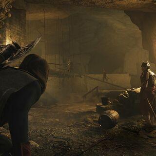 Arno in den Katakomben