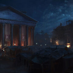晚间万神殿的艺术设定图