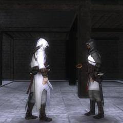 阿泰尔告诉刺客给利马索尔的亚历山大发消息