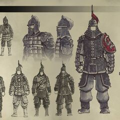 Concept art of Chinese guards
