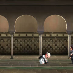 Animus 4.38中模拟的阿吉拉尔袭击托尔克马达,夺回苹果的场景