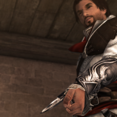 埃齐奥测试他的新袖剑