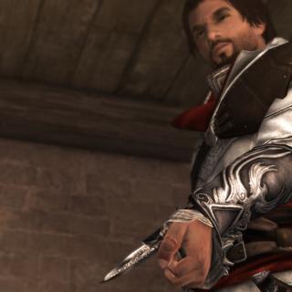 测试袖剑的埃齐奥