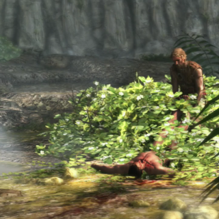 Edward cachant le corps de <b>Duncan</b>