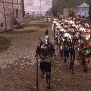 Ezio leidt Bartolomeo en zijn mannen.