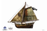 Assassin's Creed IV Black Flag -Ship- Pirate Gunboat by max qin