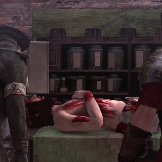 Pietro Rossi being healed by a doctor