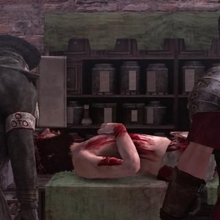 Pietro Rossi wordt verzorgd door een arts.
