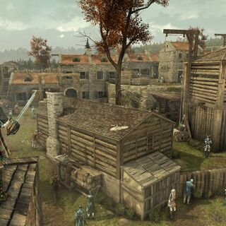 Der Highlander überblickt Fort St-Mathieu