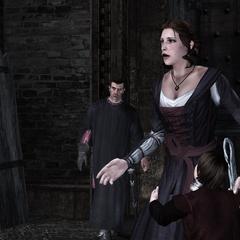 Caterina apprenant la disparition de Bianca et Ottaviano