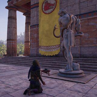 阿尔塔薛西斯在墨伽拉的一座神庙外祈祷并乞讨
