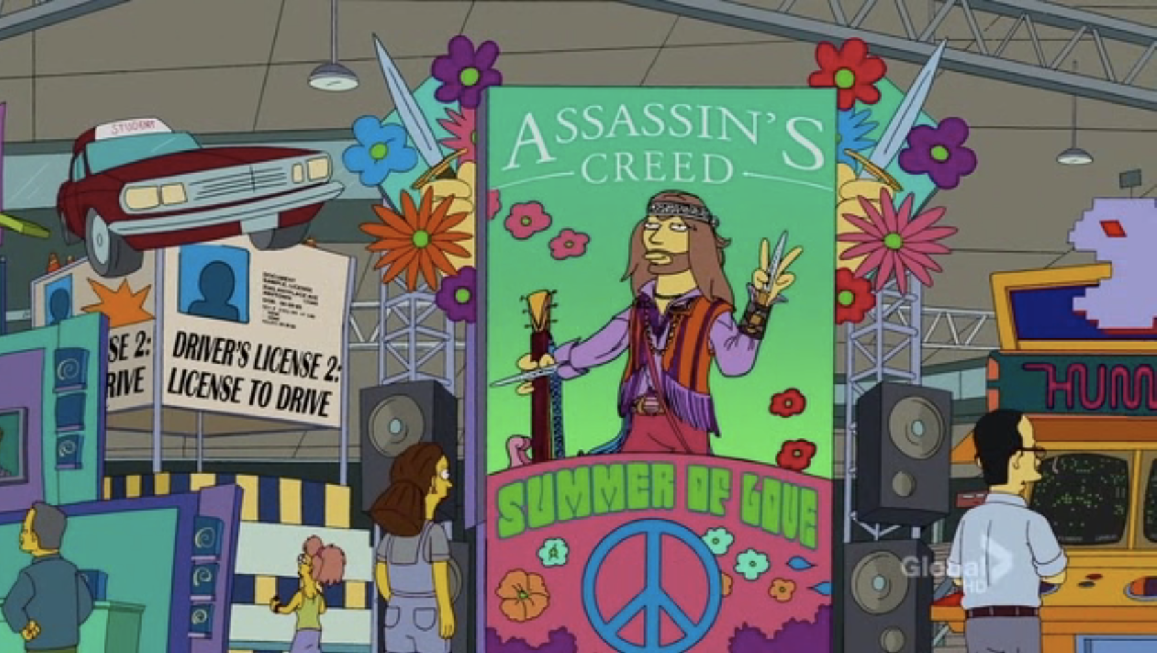 The Simpsons Assassinscreedsummoeroflove Poster For Fictional Assassins Creed Sequel