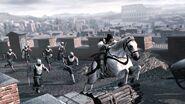Ezio pourchassé par des gardes