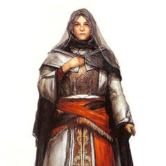 Concept art of an older Maria