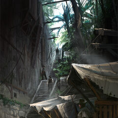 Concept-art de l'Escalier de la Reine