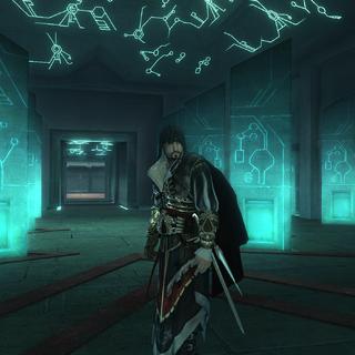 Ezio se tenant dans le Sanctuaire