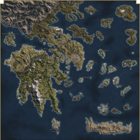 Map of Greece during the <a href=