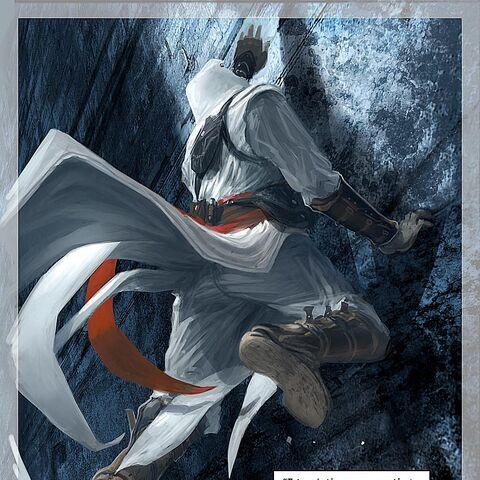 阿泰尔刺杀一名圣殿骑士后攀爬上墙