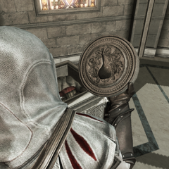 Ezio récupérant le Sceau d'Iltani