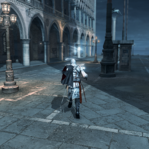 Ezio traversant Venise au pas de course