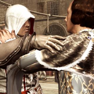 Lorenzo souhaitant bonne chance à Ezio
