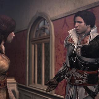 Ezio vraagt naar Manfredo