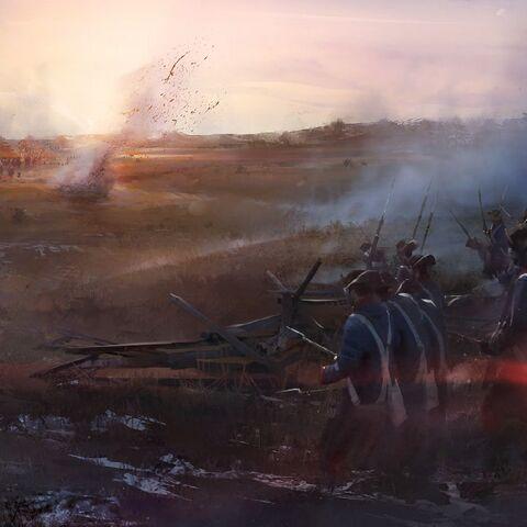 一队大陆军士兵。
