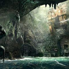 Concept art des ruines d'<b>Ambergris Key</b>